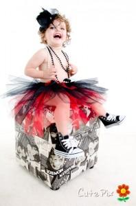Mia playing dress-up